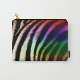 Black & White and Rainbow Zebra Print Carry-All Pouch
