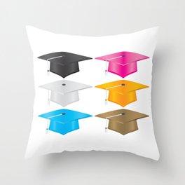 Graduate Cap Throw Pillow