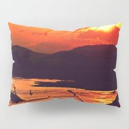 African River Sunset Leopard Pillow Sham