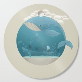 Seagull rest over whale Cutting Board