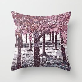 :: Girl Trees :: Throw Pillow
