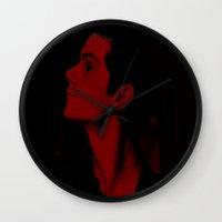 stiles Wall Clocks featuring Demon Stiles Stilinki  by Cute & Clay
