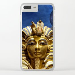 King Tut and Pyramid Clear iPhone Case