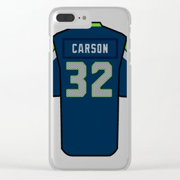 Chris Carson Jersey Clear iPhone Case
