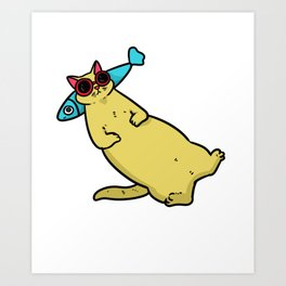 Cat tomcat gift Maine Coon Persian cat Siam Art Print