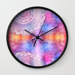 Modern Abstract Mandala Flower Wall Clock