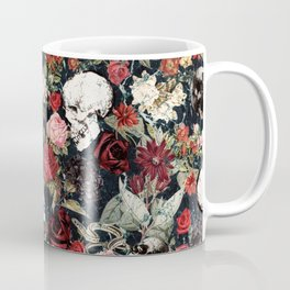 Vintage Floral With Skulls Coffee Mug