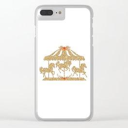 Glitter Carousel Clear iPhone Case