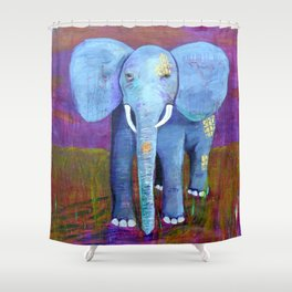 spirit of the elephant Shower Curtain