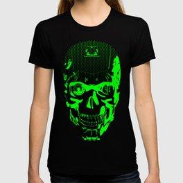 Gamer Skull CARTOON GREEN / 3D render of cyborg head T-shirt