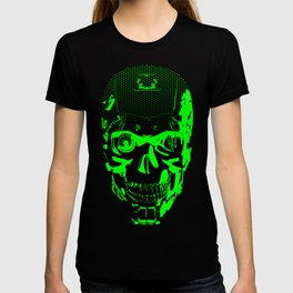 Gamer Skull CARTOON GREEN / 3D render of cyborg head T-shirt