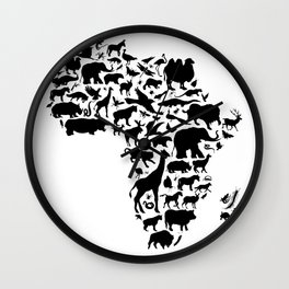 Animals of Africa Wall Clock