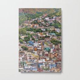 Hilltop Houses Guanajuato Metal Print