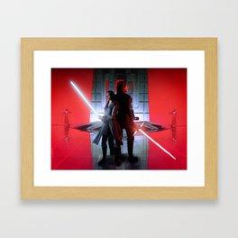 Red Battle Framed Art Print