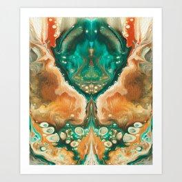 Alien visitor Art Print