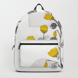 Organic watercolor botanicals 1 Backpack