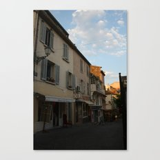 French Alley in Saint Tropez in the South of France, the Riviera en Provence ambiance was key! Canvas Print