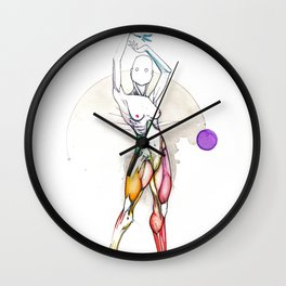 Solar, nude female ballerina, NYC artist Wall Clock