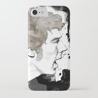 cumberbatch iPhone & iPod Cases featuring Benedict Cumberbatch by Hologarithm