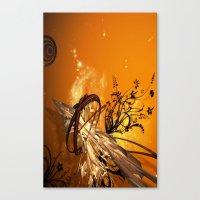 orange pattern Canvas Prints featuring ORANGE PATTERN by Ylenia Pizzetti