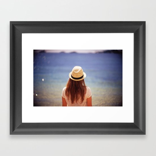 Summer Hat Framed Art Print