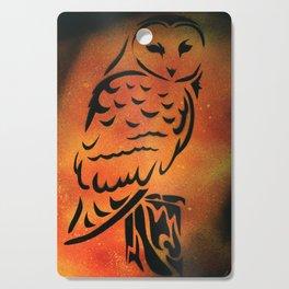 Orange Owl Cutting Board