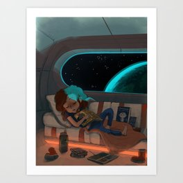 Nap in Space Art Print