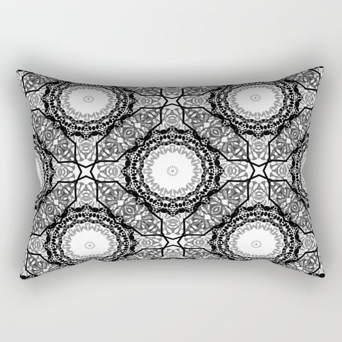Black and white ornament . 7 Rectangular Pillow