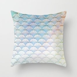 mermaid ice crystals Throw Pillow