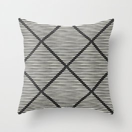 Chisel In Black & White Throw Pillow