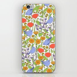 Birds and Wild Blooms iPhone Skin
