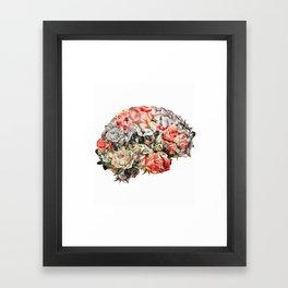 Flower Brain Framed Art Print