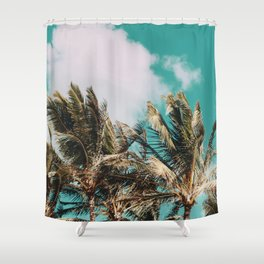 Palm Trees and Island Breeze Shower Curtain