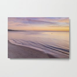 Sunset Paddle Metal Print