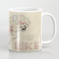 brompton Mugs featuring I Love My Bike by Wyatt Design