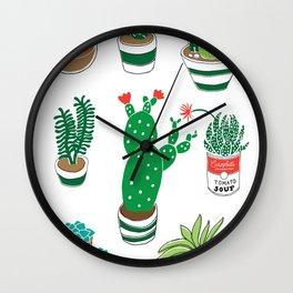 Illustrated Cactii Wall Clock