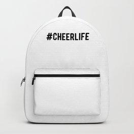 Hashtag Cheerlife Funny Cheerleader Backpack