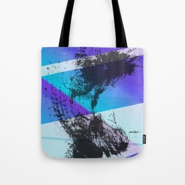 Ink Splat and Shapes Aqua and Purple Tote Bag