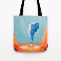 breaking bad Tote Bags featuring Breaking Bad. by Caleb Boyles