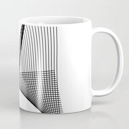 """Linear Collection"" - Minimal Letter A Print Coffee Mug"