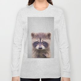 Raccoon - Colorful Long Sleeve T-shirt