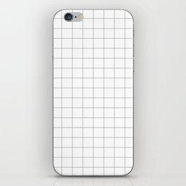 grey white grid iPhone Skin