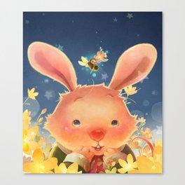 The Whispering Rabbit Canvas Print
