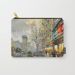 La Porte Saint-Denis, Paris by Antoine Blanchard Carry-All Pouch