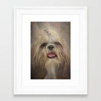 shih tzu Framed Art Prints featuring Shih Tzu by Pauline Fowler ( Polly470 )
