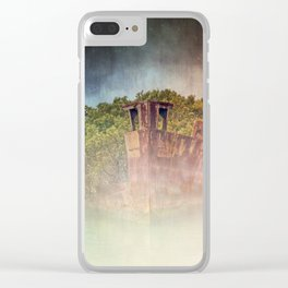 Ghostly Garden Shipwreck Clear iPhone Case