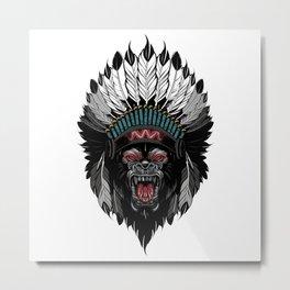 Gorilla Native Metal Print