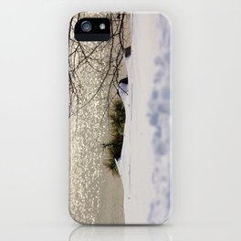 Snow in a cold afternoon-Winter Series iPhone Case