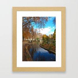 Parc Monceau in Autumn Framed Art Print