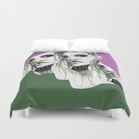 poison ivy Duvet Covers featuring Ivy by Anwar B